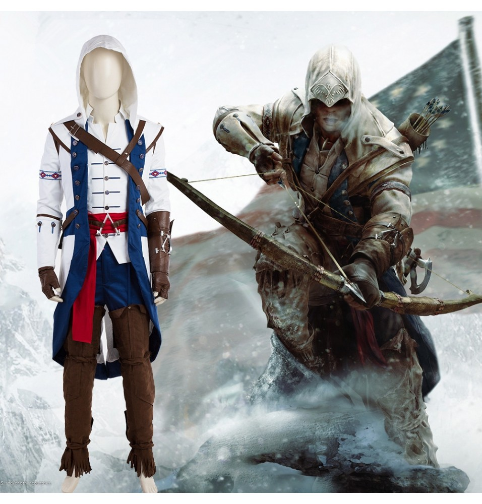 Assassins Creed 3 Connor Cosplay Costume Deluxe