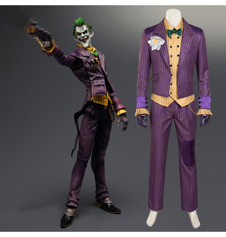 Batman Arkham Asylum Joker Cosplay Costumes