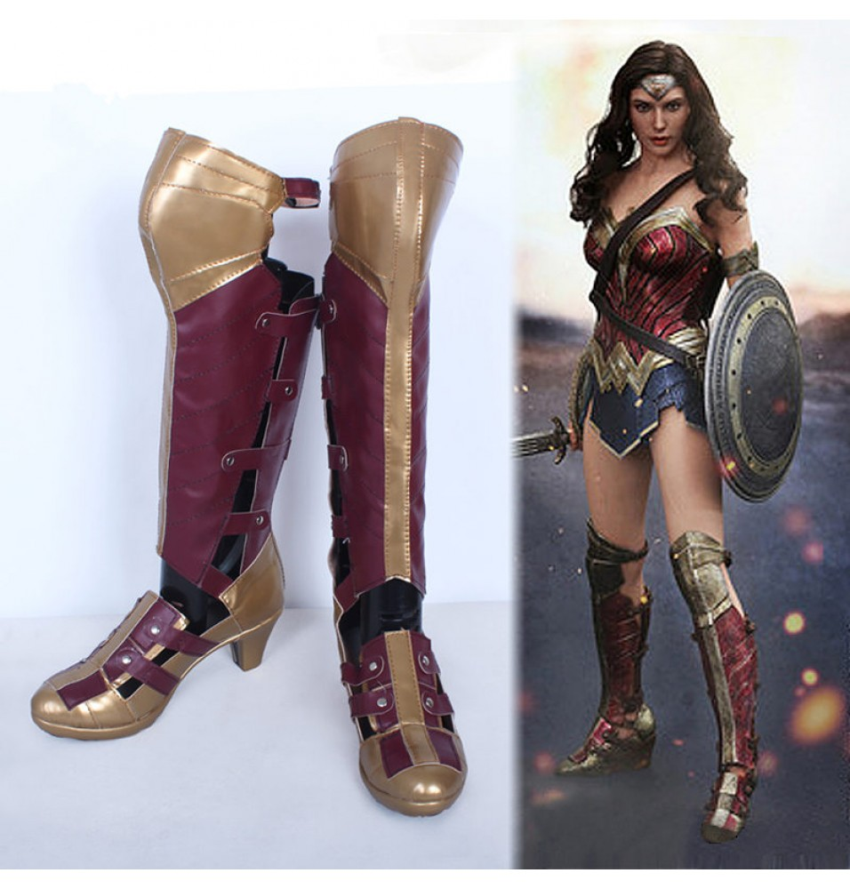 Batman v Superman: Dawn of Justice Wonder Woman Boots Cosplay Shoes
