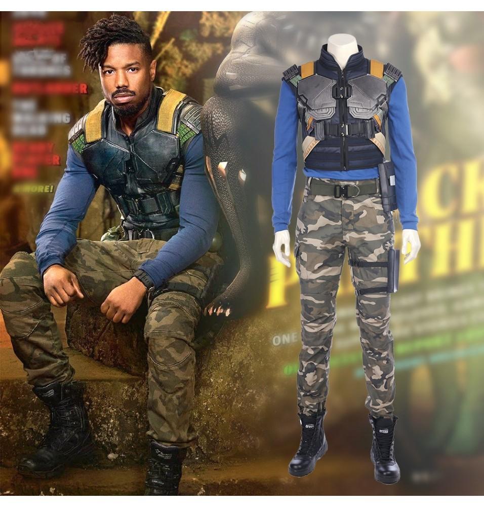 Black Panther Erik Killmonger Cosplay Costume Deluxe