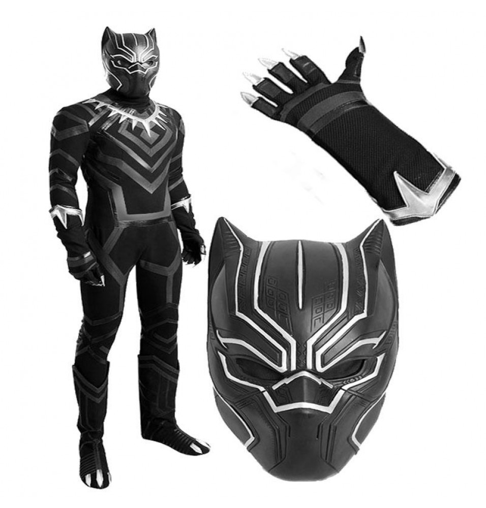 Captain America Civil War Black Panther T'Challa Cosplay Costume Deluxe