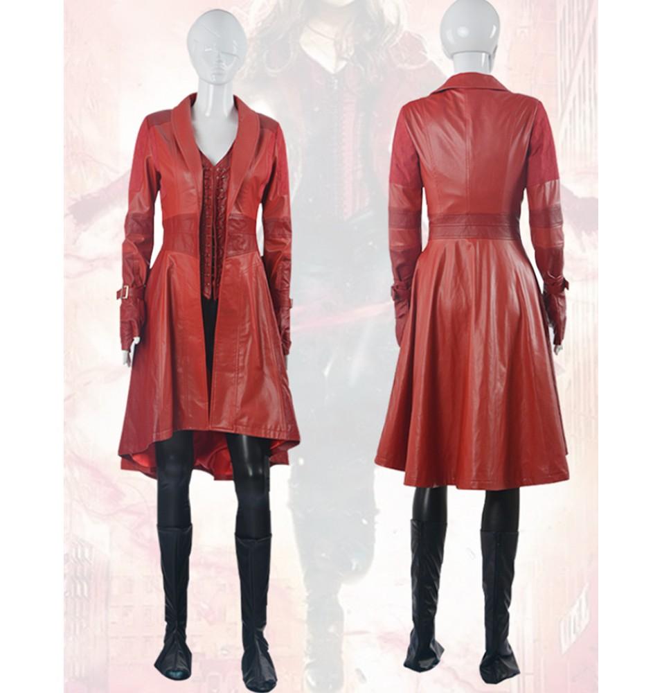 Captain America Civil War Wanda Maximoff Scarlet Witch Cosplay Costume