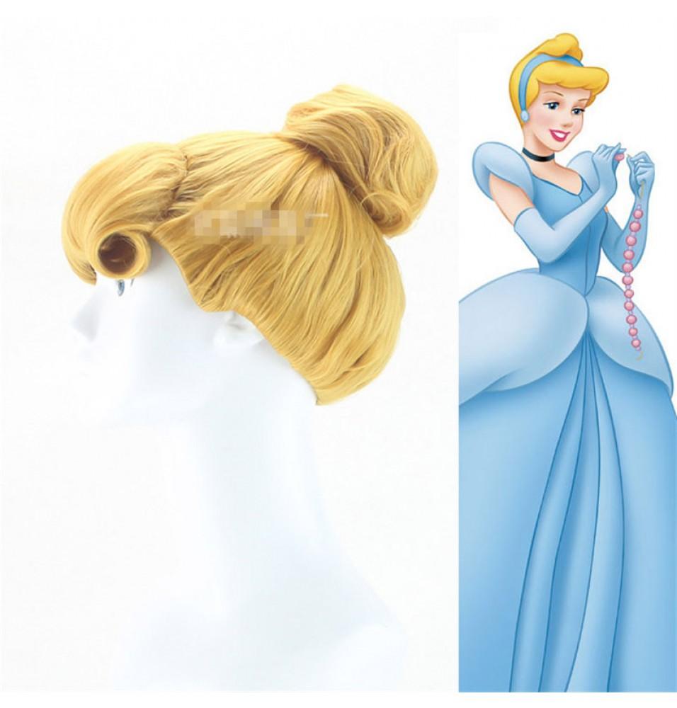 Disney Cinderella Princess Cosplay Updo Wigs