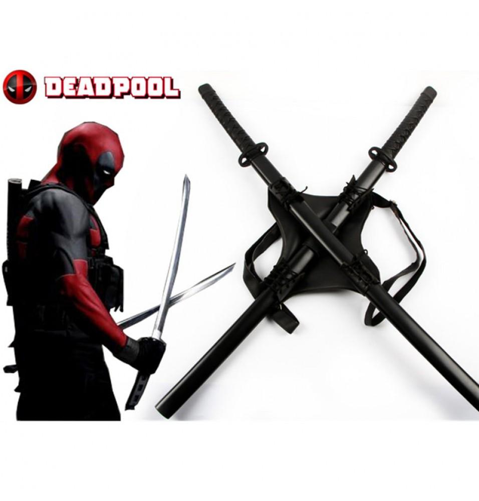 Deadpool Backpack Swords Set Props Cosplay