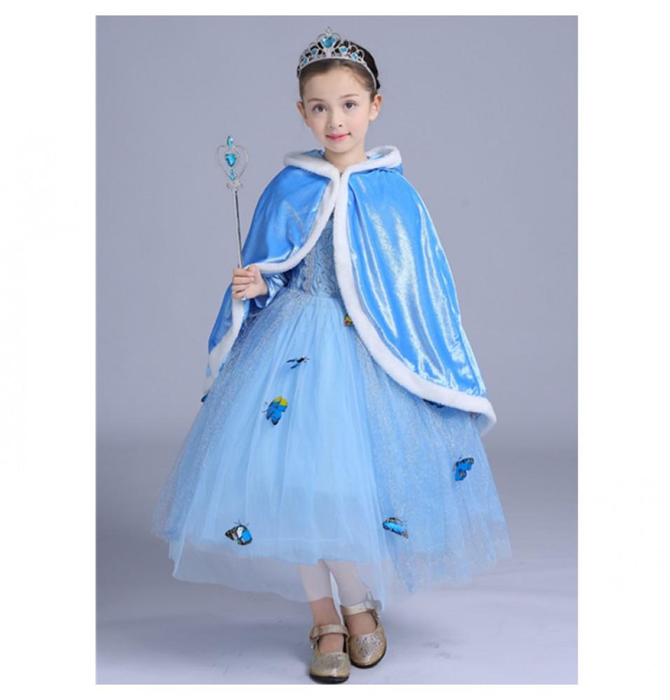 Disney Cinderella Kids Princess Dress Halloween Costume