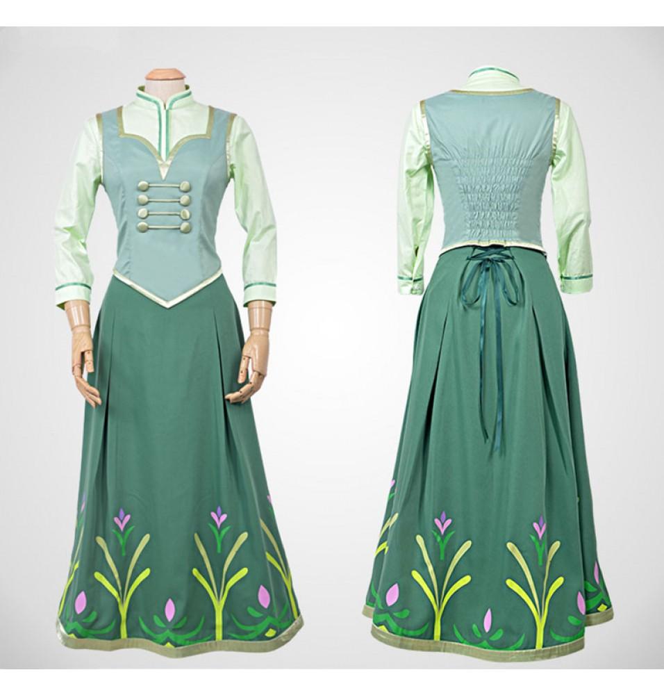 Disney Frozen Fever Anna Dress Cosplay Costume - Deluxe Version