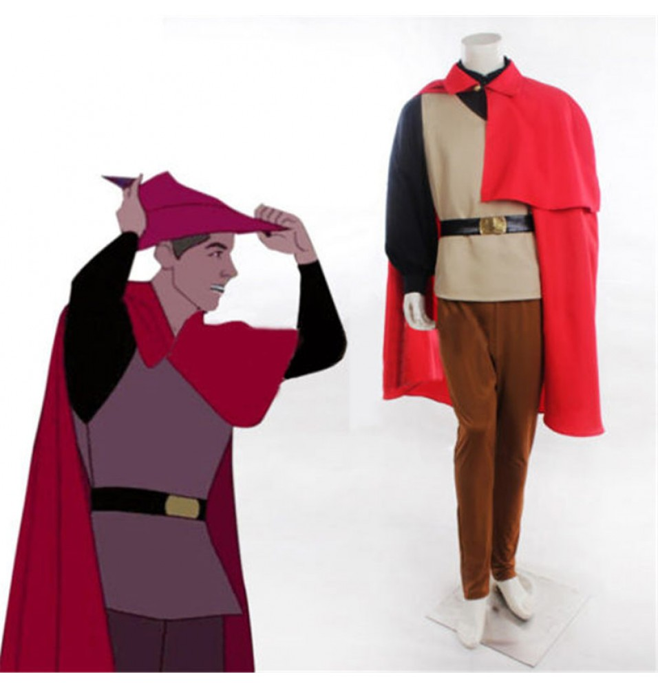 Disney Sleeping Beauty Prince Phillip Cosplay Outfit Halloween Costume