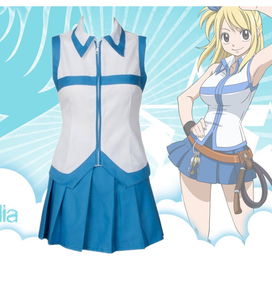 Fairy Tail Lucy Dress Cosplay Costumes