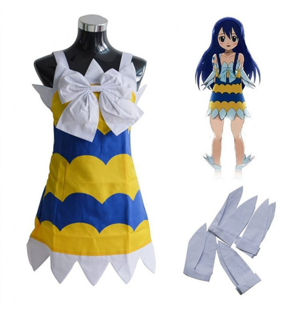 Fairy Tail Wendy Marvell Dress Costume Cosplay Outfits