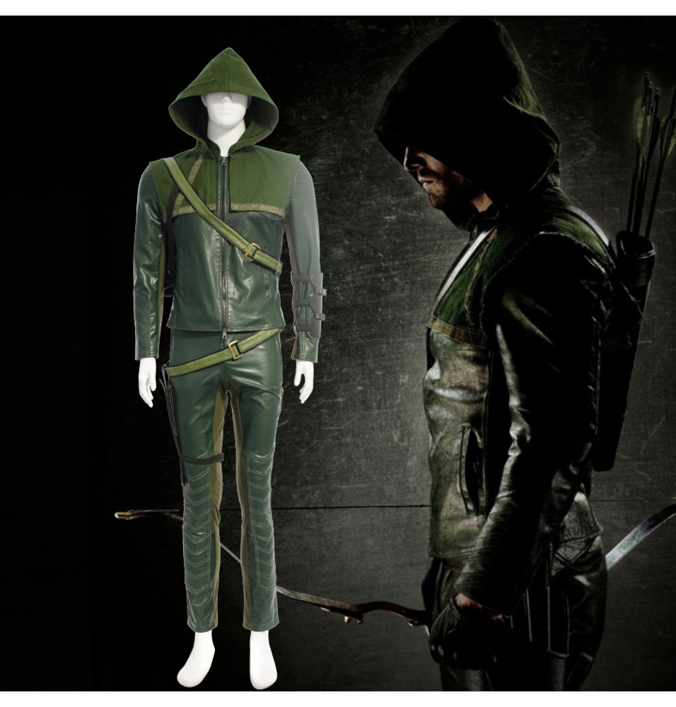 Green Arrow Oliver Queen Arrow Cosplay Costume
