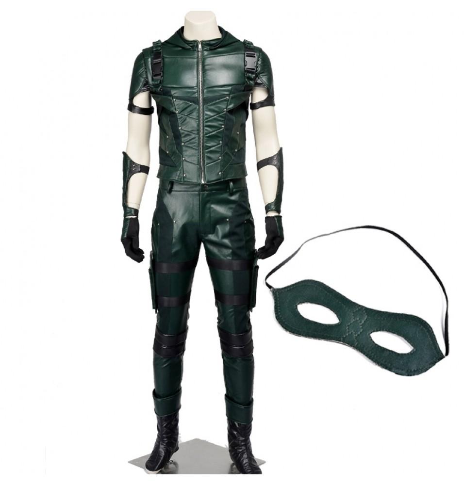 Green Arrow Season 4 Oliver Queen Arrow Cosplay Costume