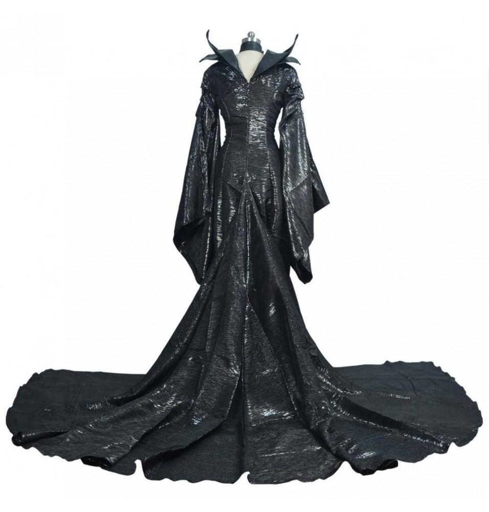 Disney Maleficent Black Witch Angelina Jolie Cosplay Costume