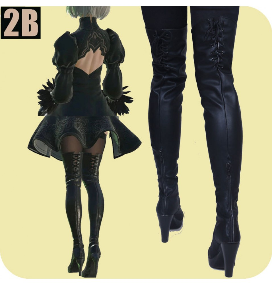 NieR: Automata 2B Boots No.2 Type B Cosplay Shoes
