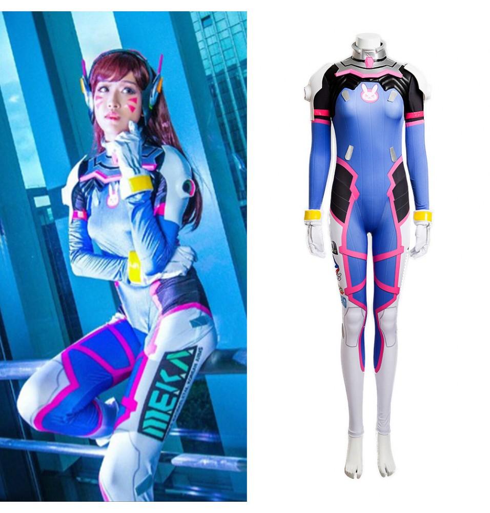 Overwatch D.Va Jumpsuit DVA Hana Song Cosplay Costume - Deluxe Version