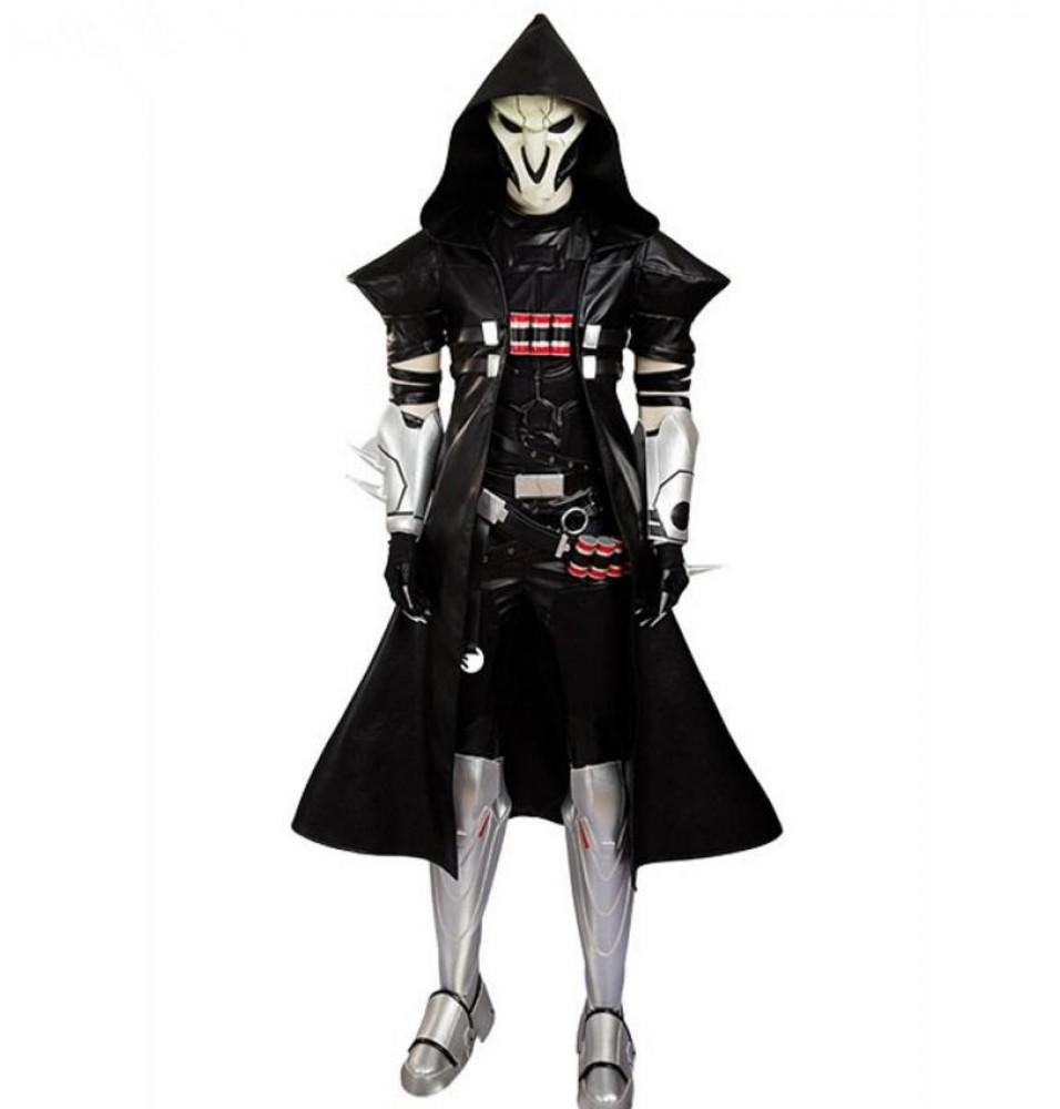 Overwatch Reaper Gabriel Reyes Cosplay Costume Deluxe