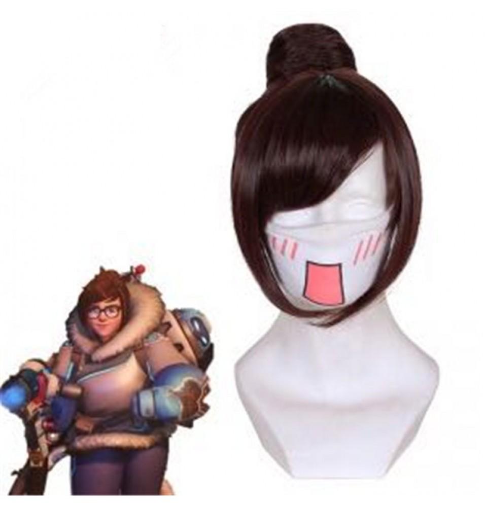 Overwatch Zhou Meiling Mei Cosplay Wigs