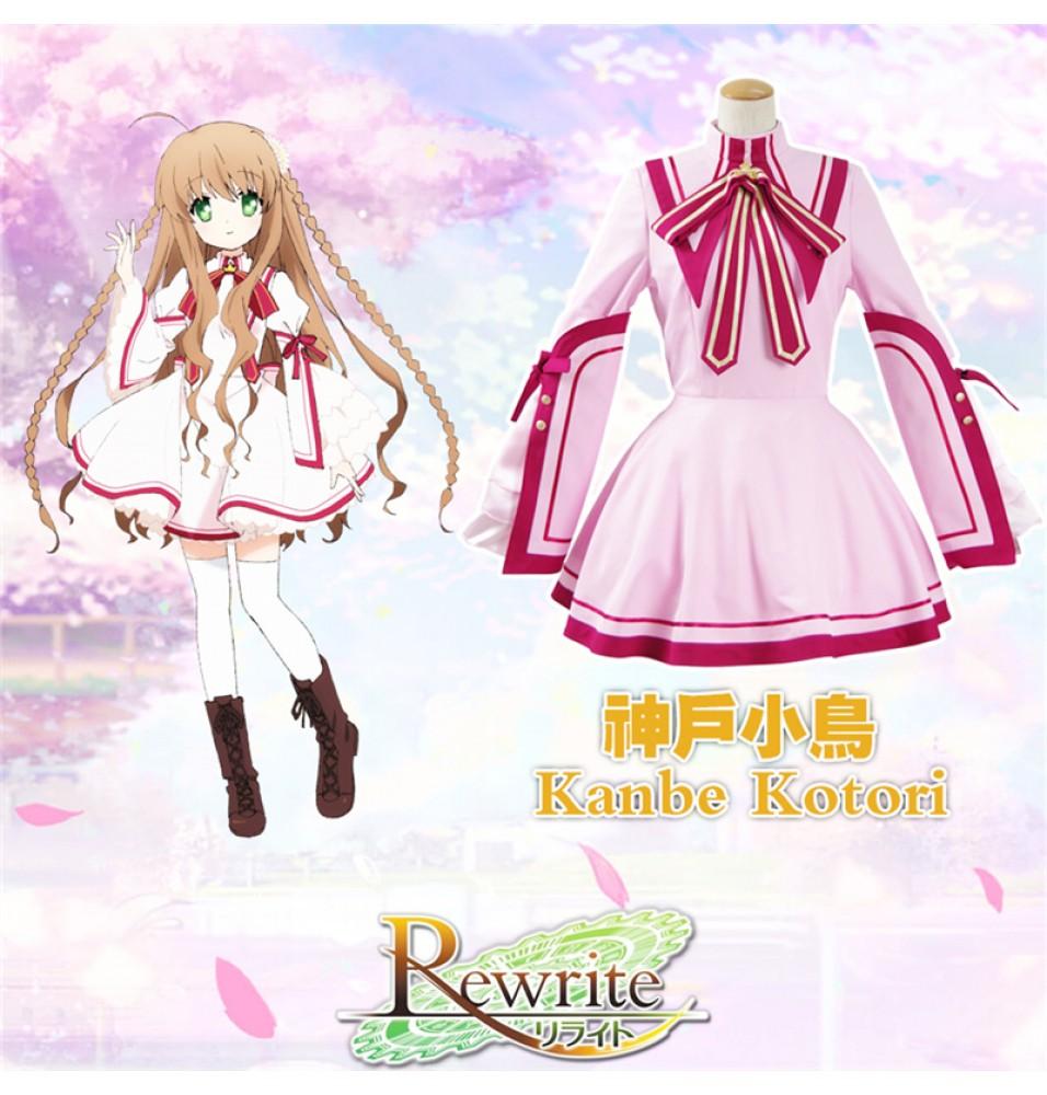 Rewrite Kanbe Kotori School Uniform Dress Cosplay Costume
