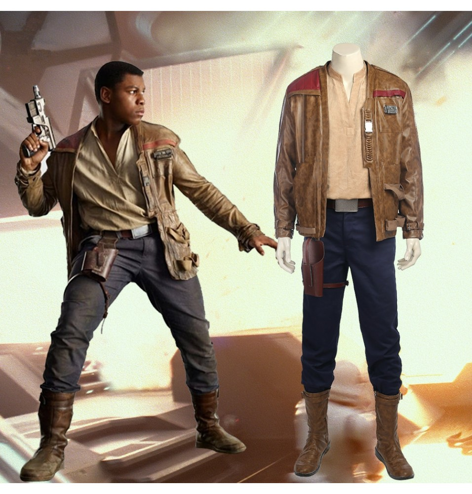 Star Wars 8 Finn Cosplay Costume Full Set Deluxe
