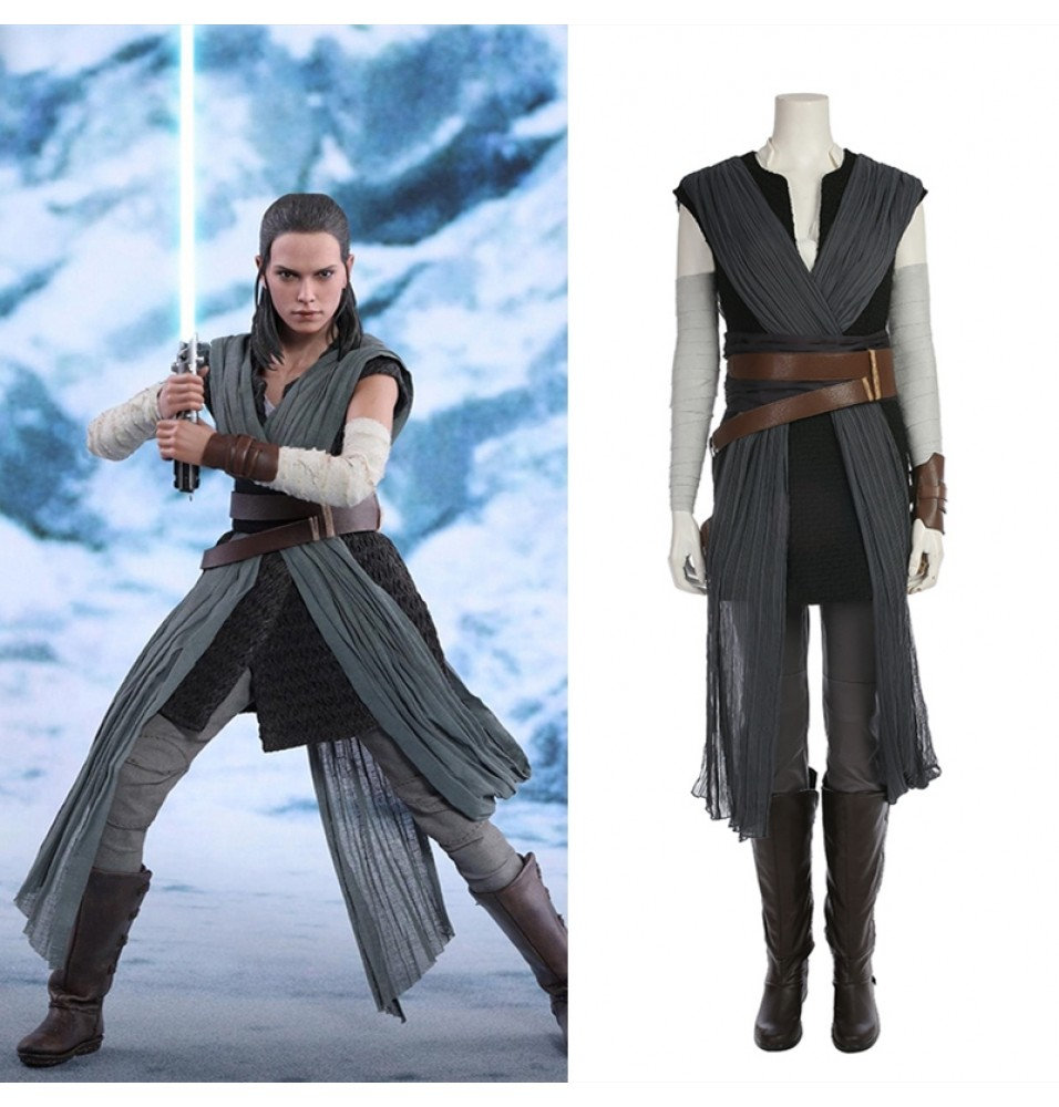 Star Wars The Last Jedi Rey Cosplay Costume Deluxe Outfit