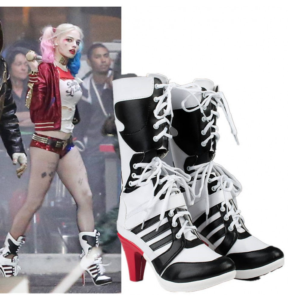 Suicide Squad Harley Quinn Cosplay Shoes Boots