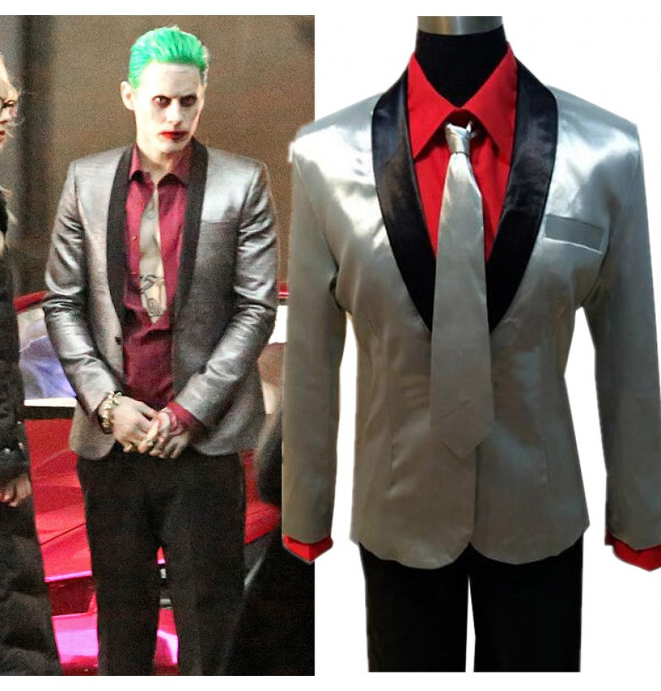 Suicide Squad Jared Leto Joker Suit Cosplay Costume Halloween Outfit
