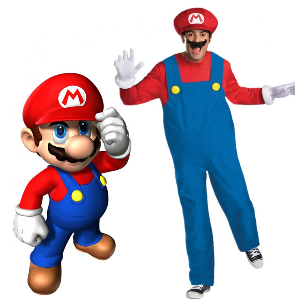 Super Mario Brothers Adult Cosplay Costume Deluxe