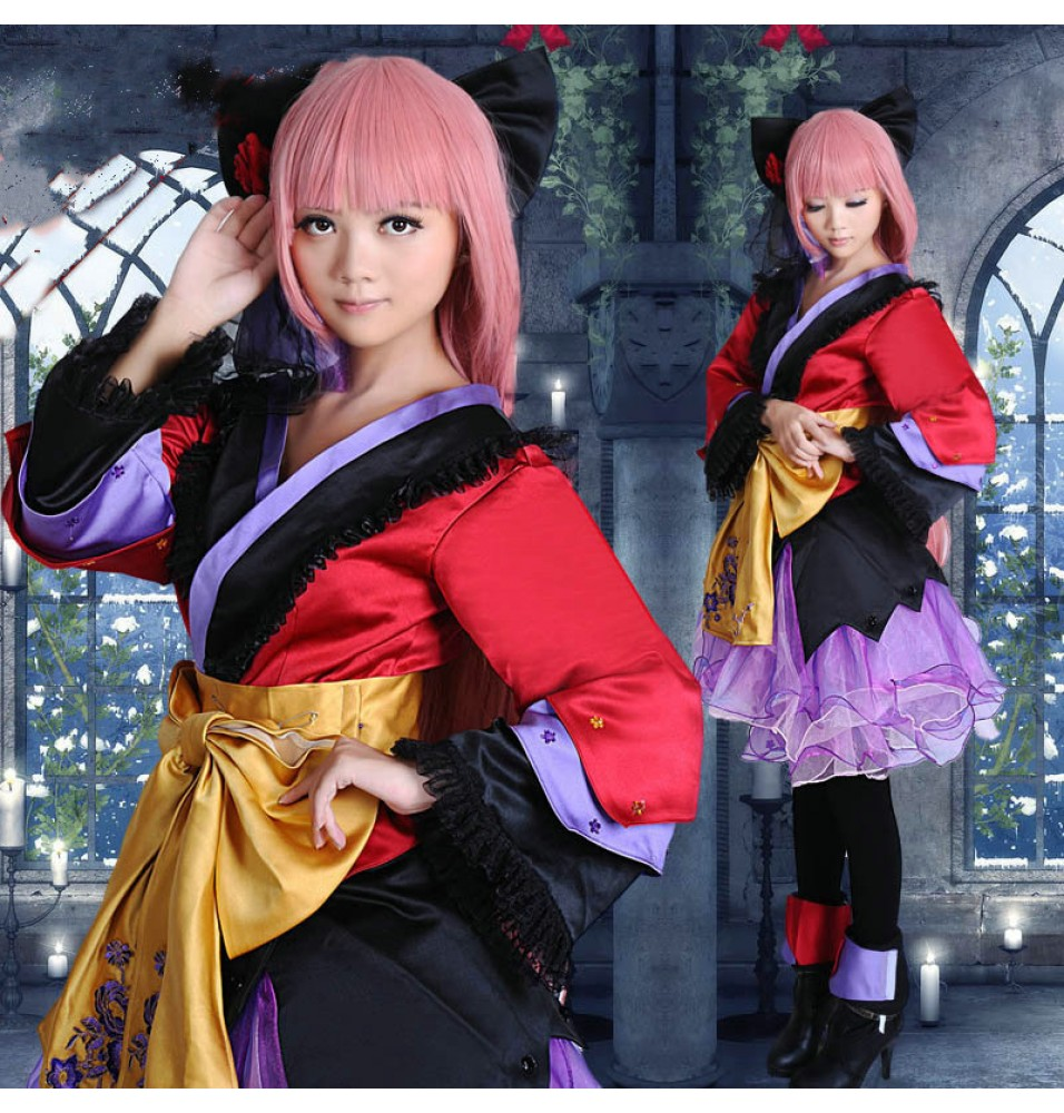 VOCALOID 2 Megurine Luka Cosplay Costume Dress
