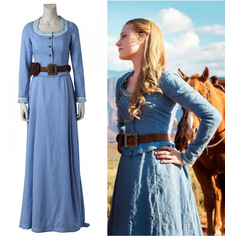 Westworld Dolores Abernathy Blue Dress Cosplay Costume