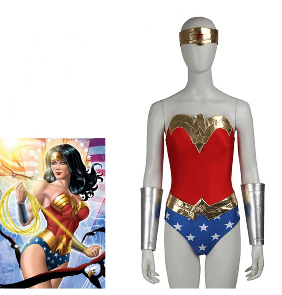 Wonder Woman Diana Prince Cosplay Costume Jumpsuit