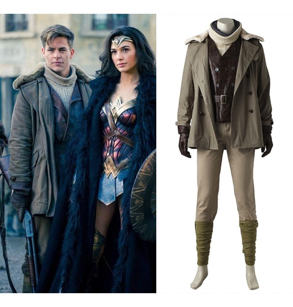 Wonder Woman Steve Trevor Cosplay Costume Deluxe
