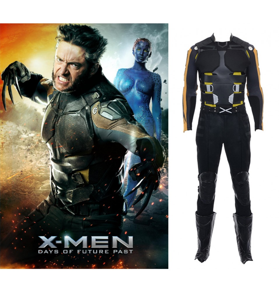X-Men Days of Future Past Logan Wolverine Cosplay Costume Deluxe