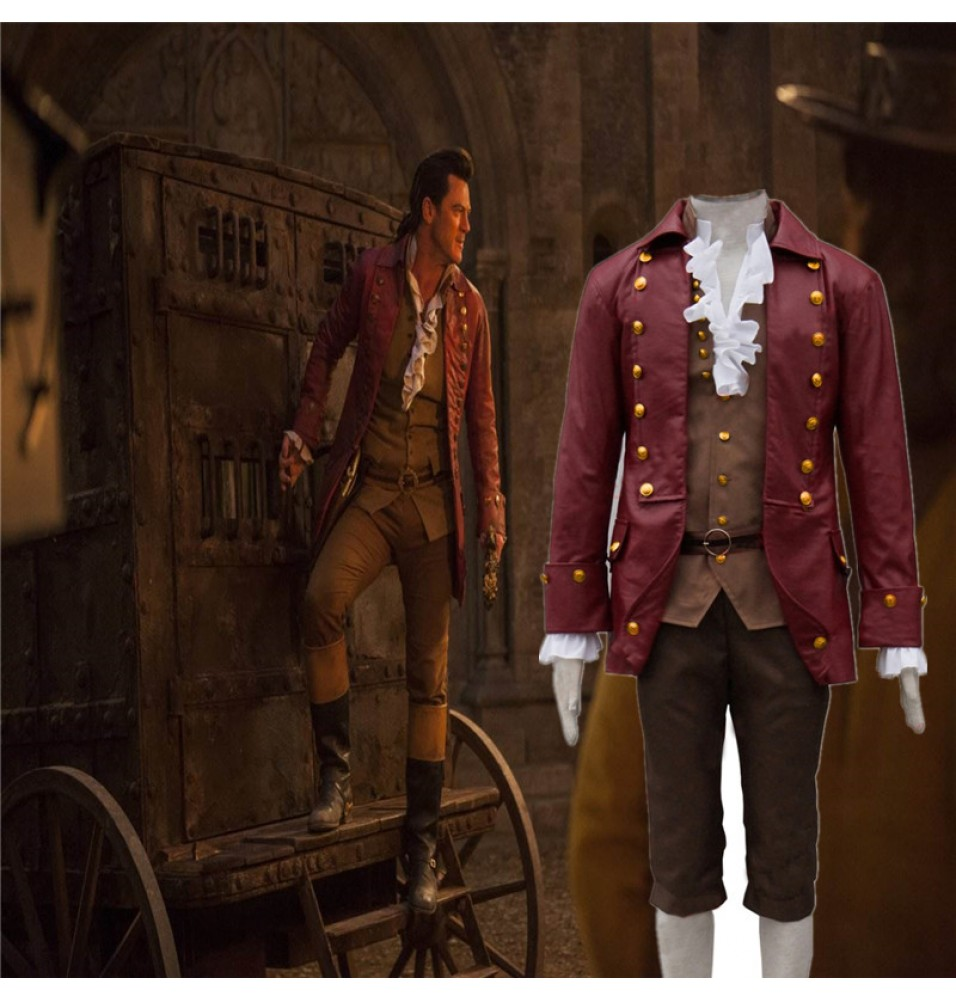 2017 Disney Movie Beauty and the Beast Gaston Cosplay Costume