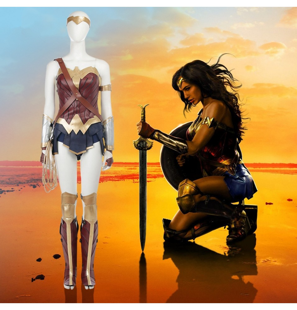 2017 Wonder Woman Cosplay Costumes Full Set