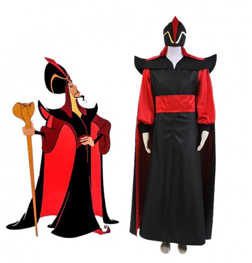 Disney Aladdin Jafar Villain Outfit Cosplay Costume