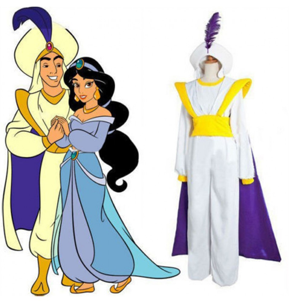 Disney Aladdin Prince Cosplay Halloween Party Deluxe Costume