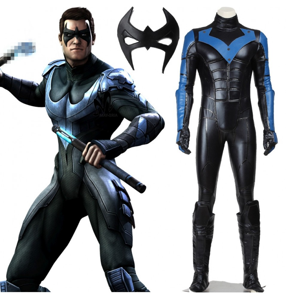 Batman Arkham City Nightwing Cosplay Costumes Outfit