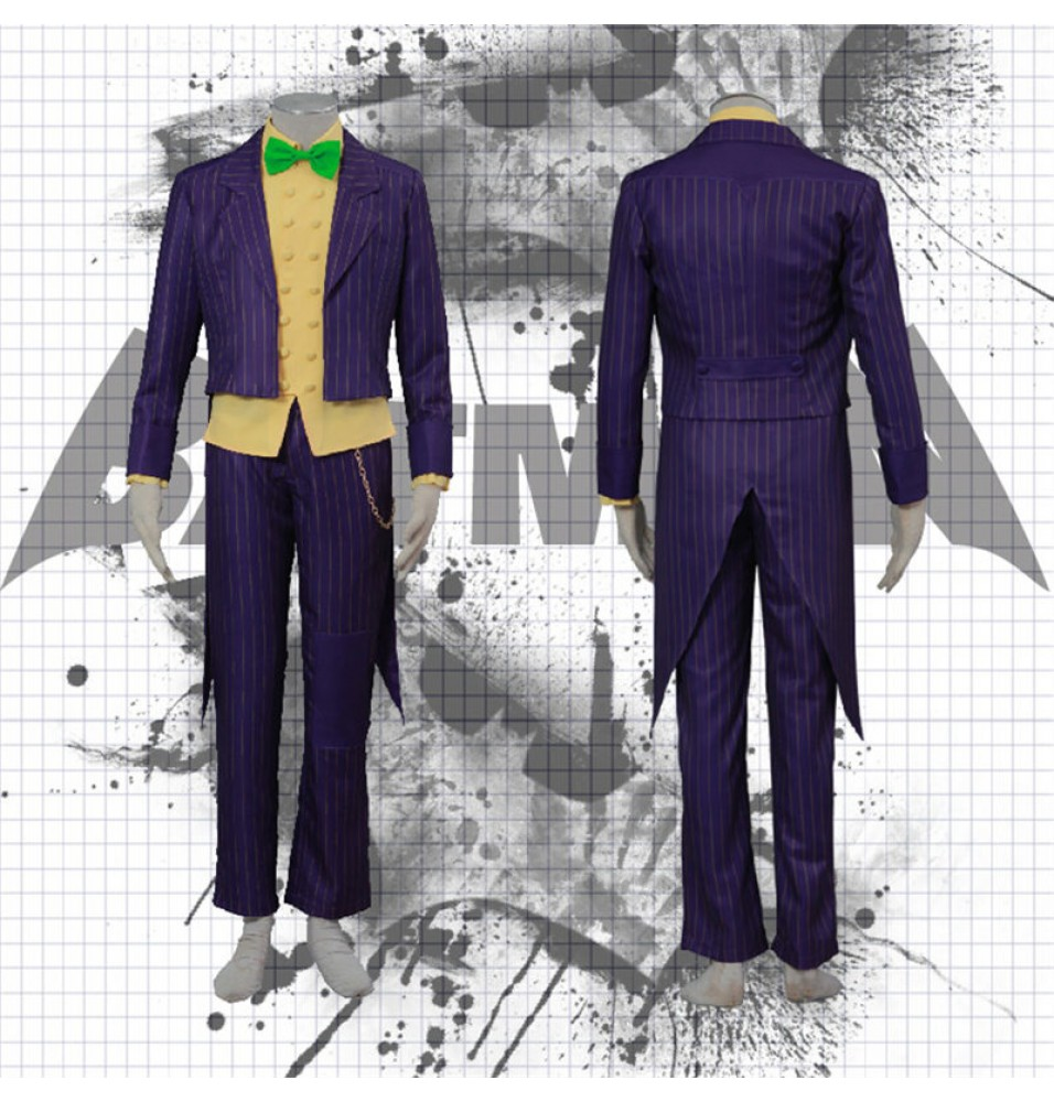 Batman Arkham City The Joker Cosplay Halloween Costumes Classic Party Suit