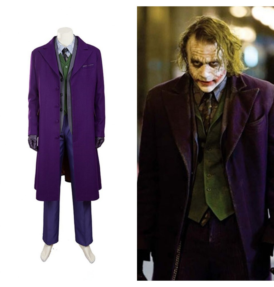 Batman The Dark Knight Joker Cosplay Costume Deluxe