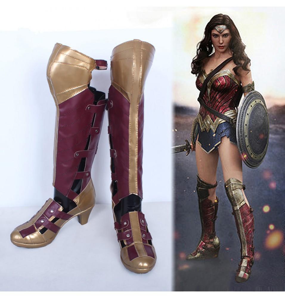 Batman v Superman: Dawn of Justice Wonder Woman Boots Cosplay Shoes