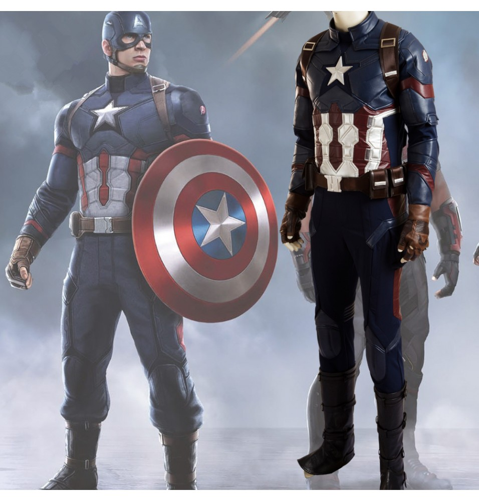 Captain America 3 Civil War Captain America Cosplay Costume Deluxe