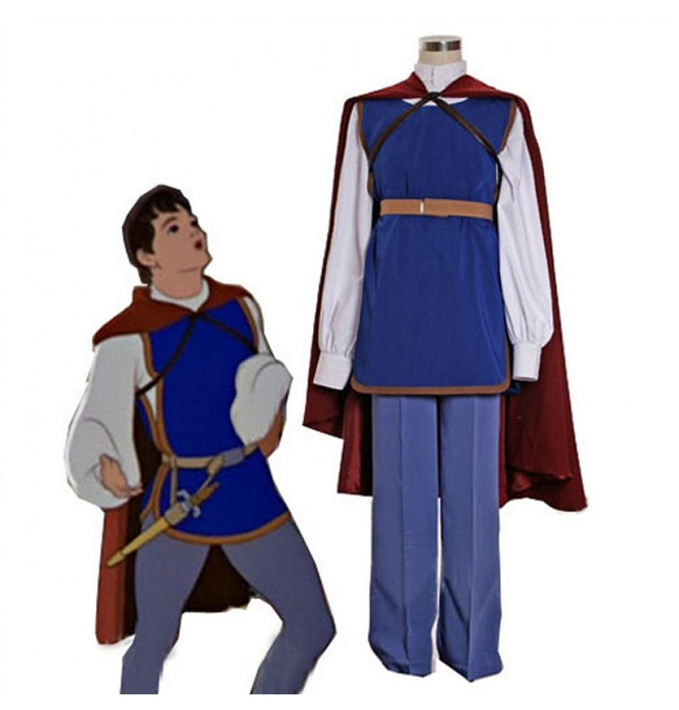 Disney Movie Snow White Prince Cosplay Costumes