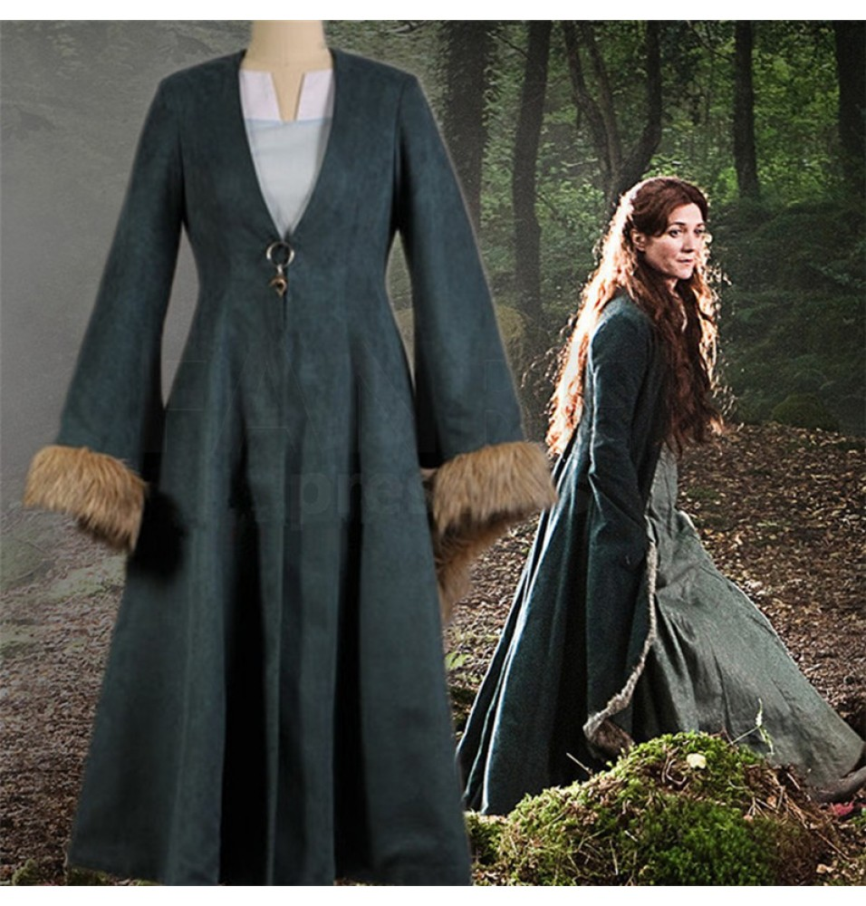 Game of Thrones Catelyn Stark Dress Robe Cosplay Costume