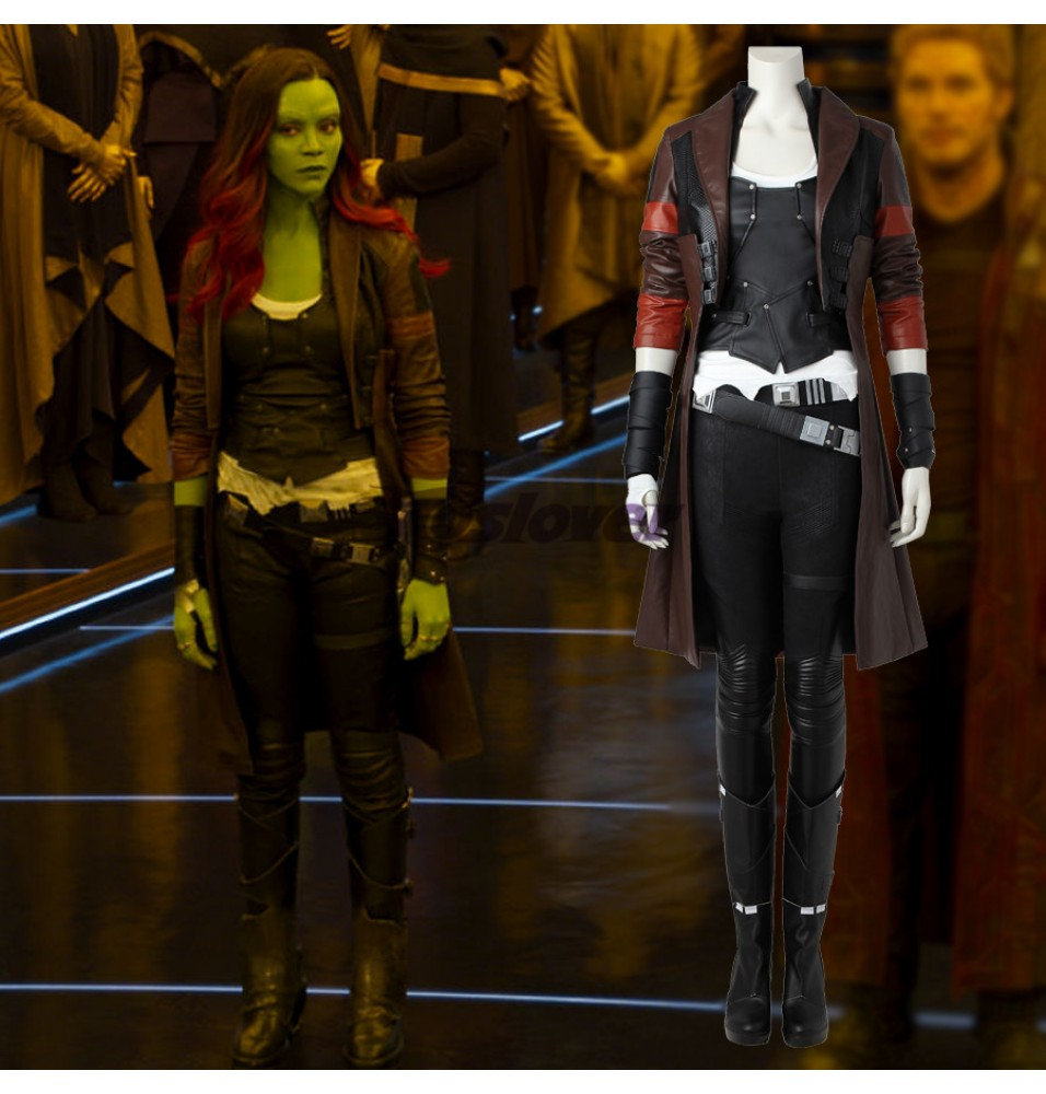Guardians of The Galaxy 2 Gamora Cosplay Costume Deluxe