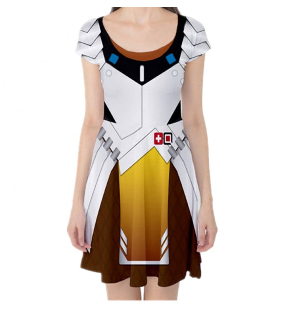 Overwatch Mercy Dress Cosplay Costume