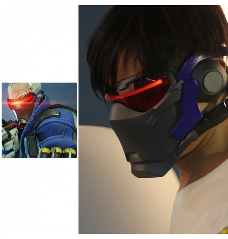 Overwatch Soldier 76 Cosplay Mask