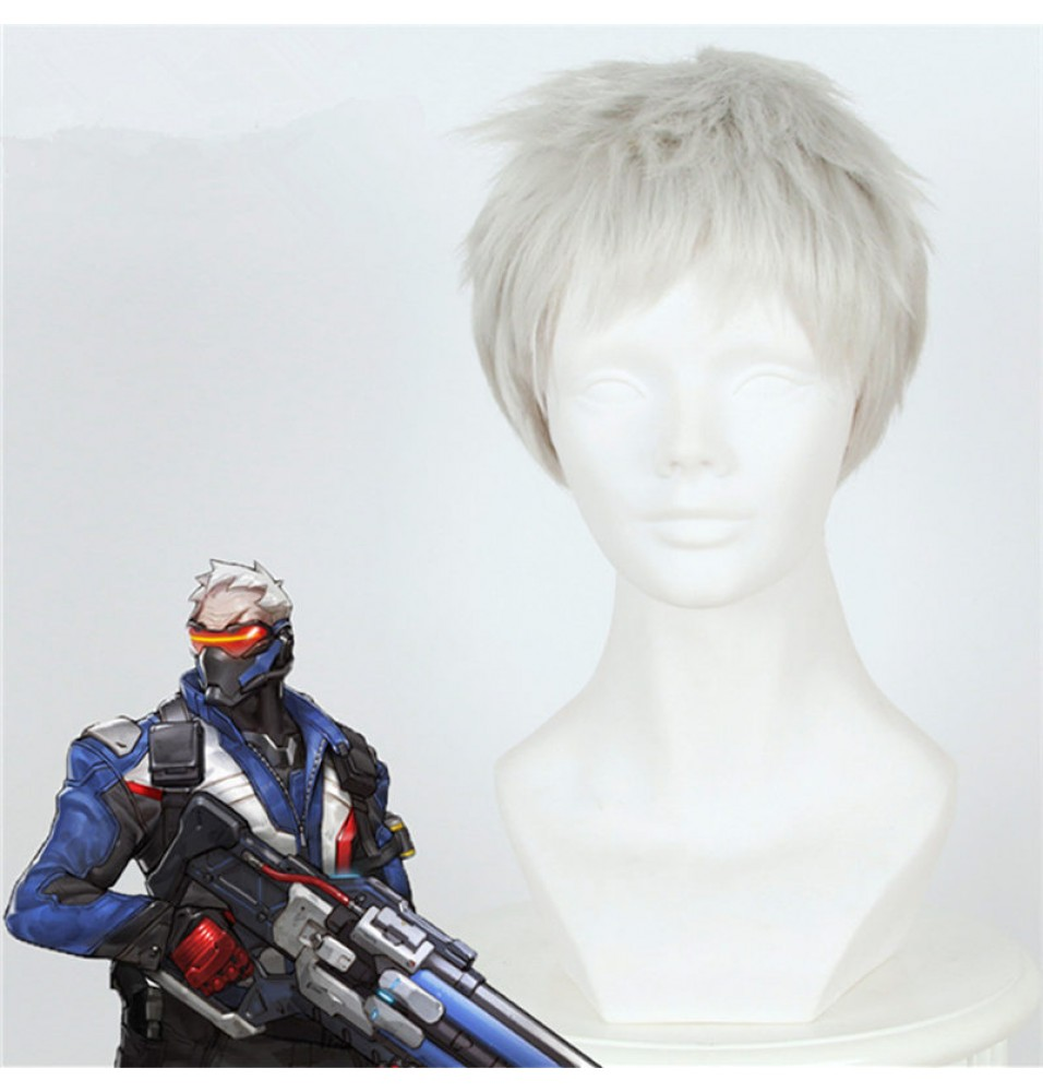 Overwatch Soldier 76 Cosplay Wigs