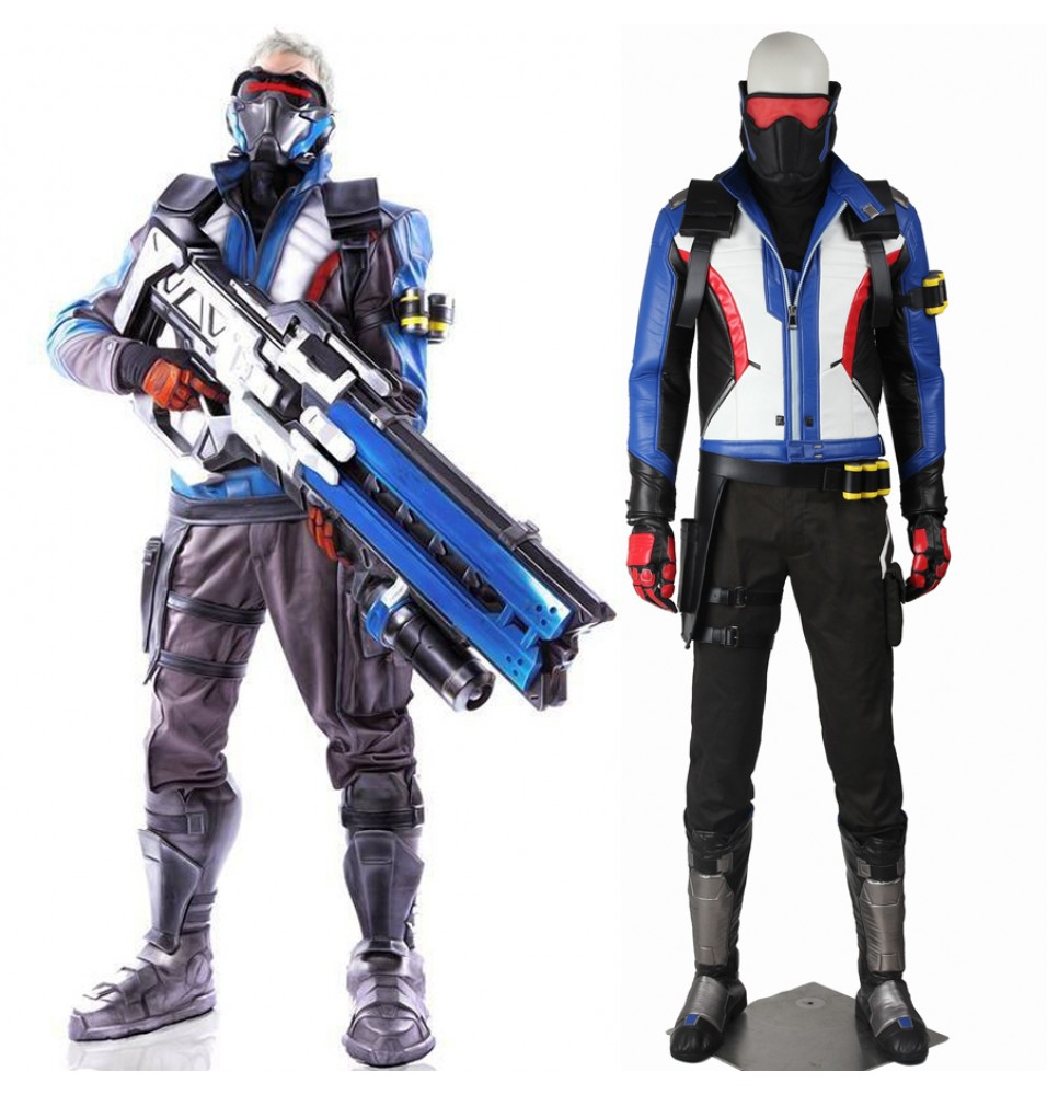 Overwatch Soldier 76 John Jack Morrison Cosplay Costume Full Set