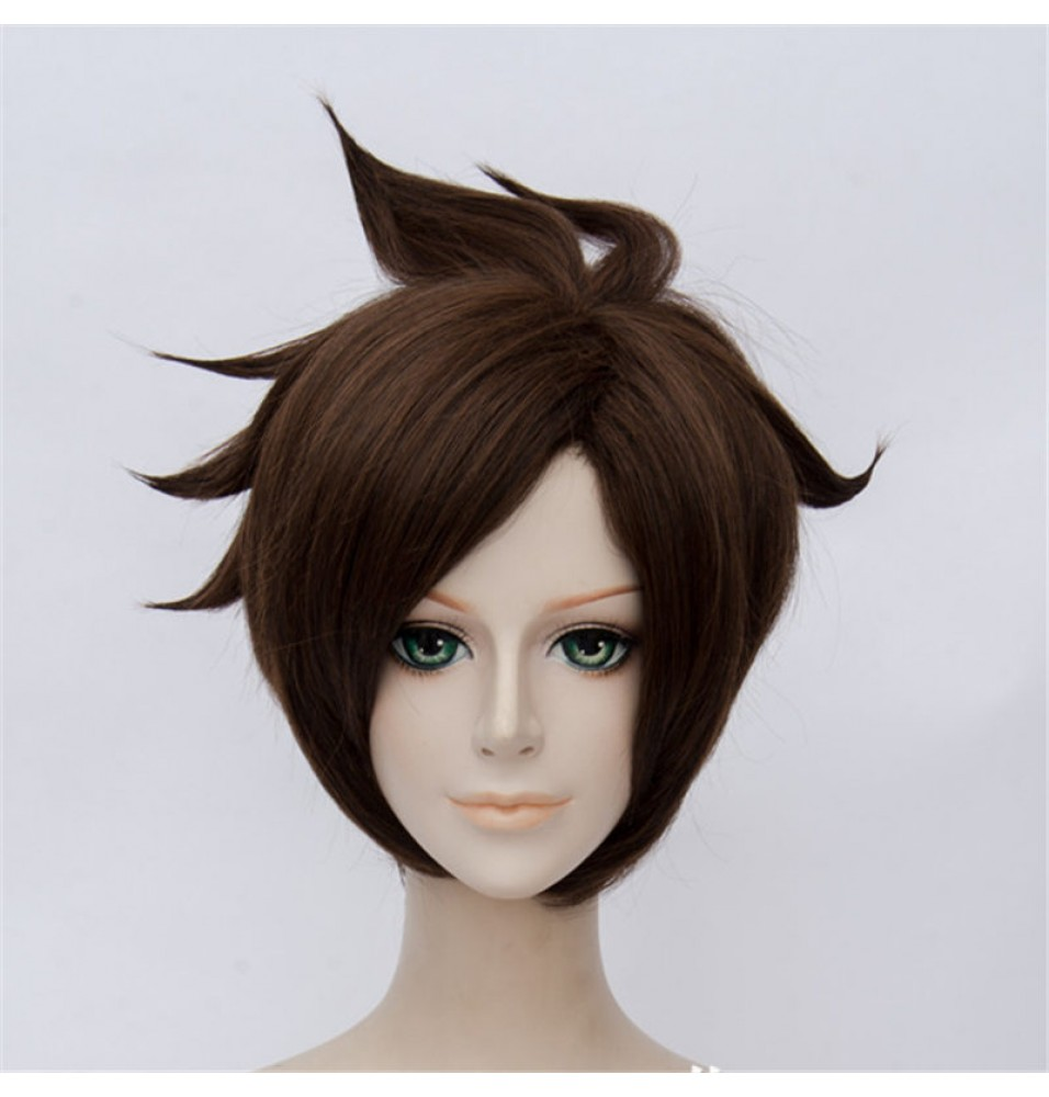 Overwatch Tracer Cosplay Wigs