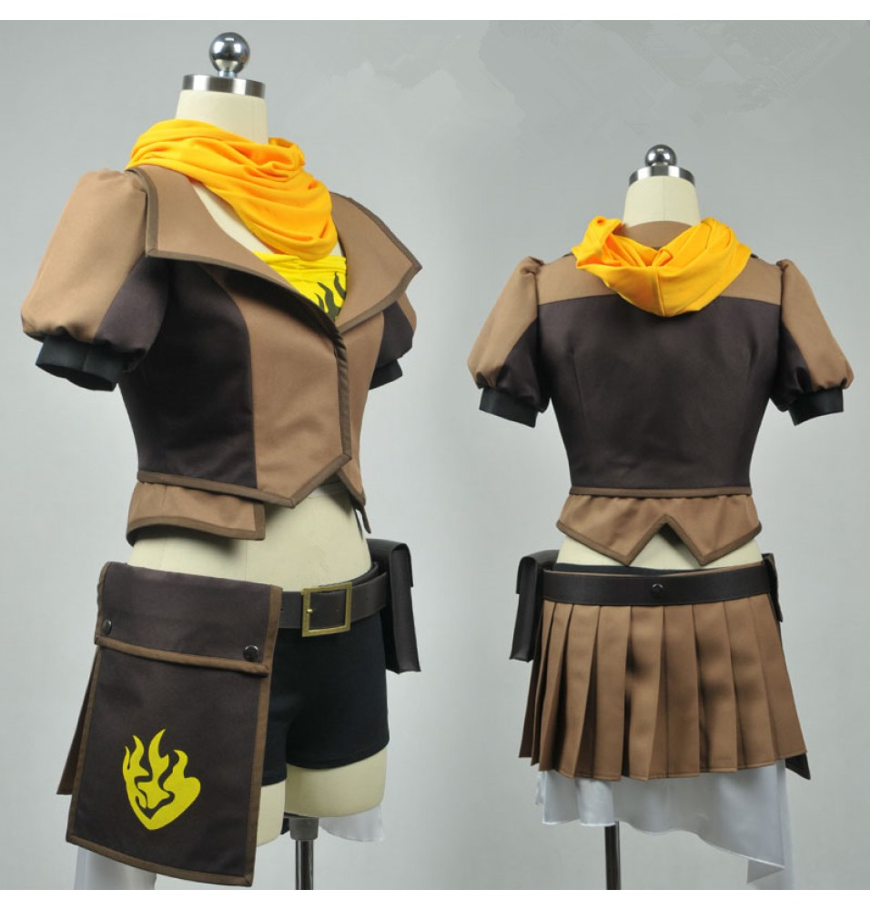 RWBY Yellow Trailer Yang Xiao Long Cosplay Costumes
