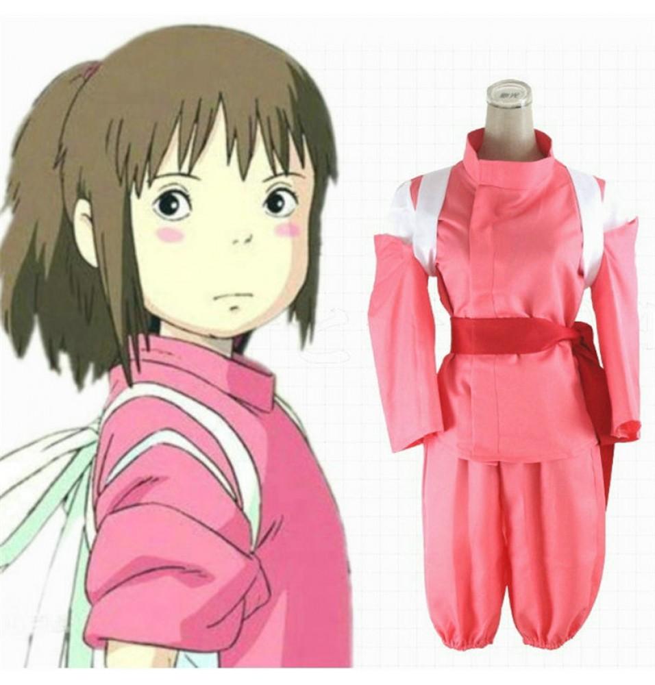 Spirited Away Cosplay Ogino Chihiro Kimono Suit Cosplay Costumes